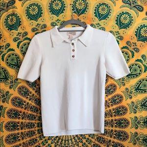 Forever 21 contemporary polo boxy blouse